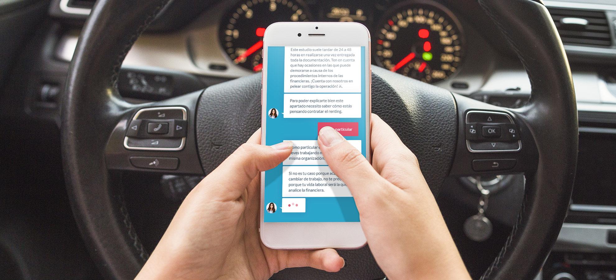 El primer chatbot que ayuda al usuario a contratar renting online