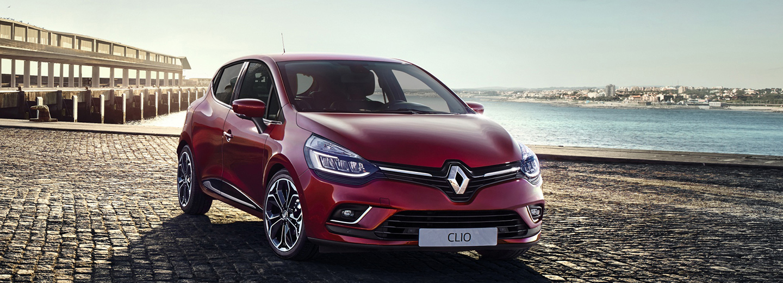 Nuevo Renault Clio de color rojo
