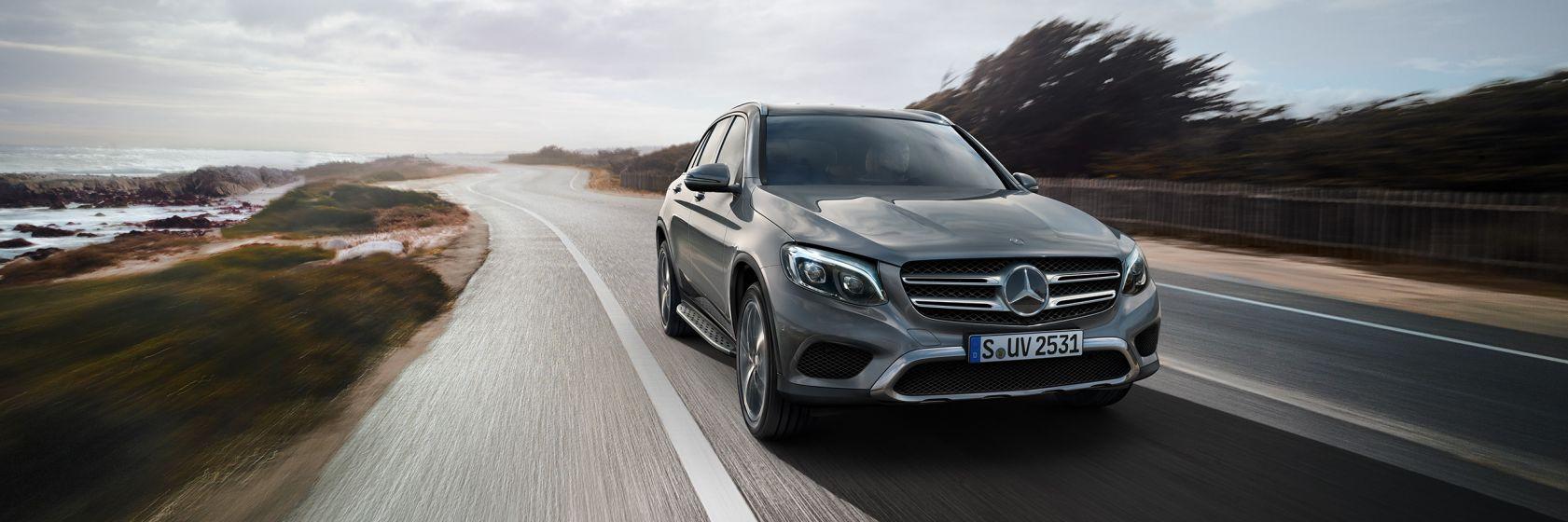 Mercedes glc plateado