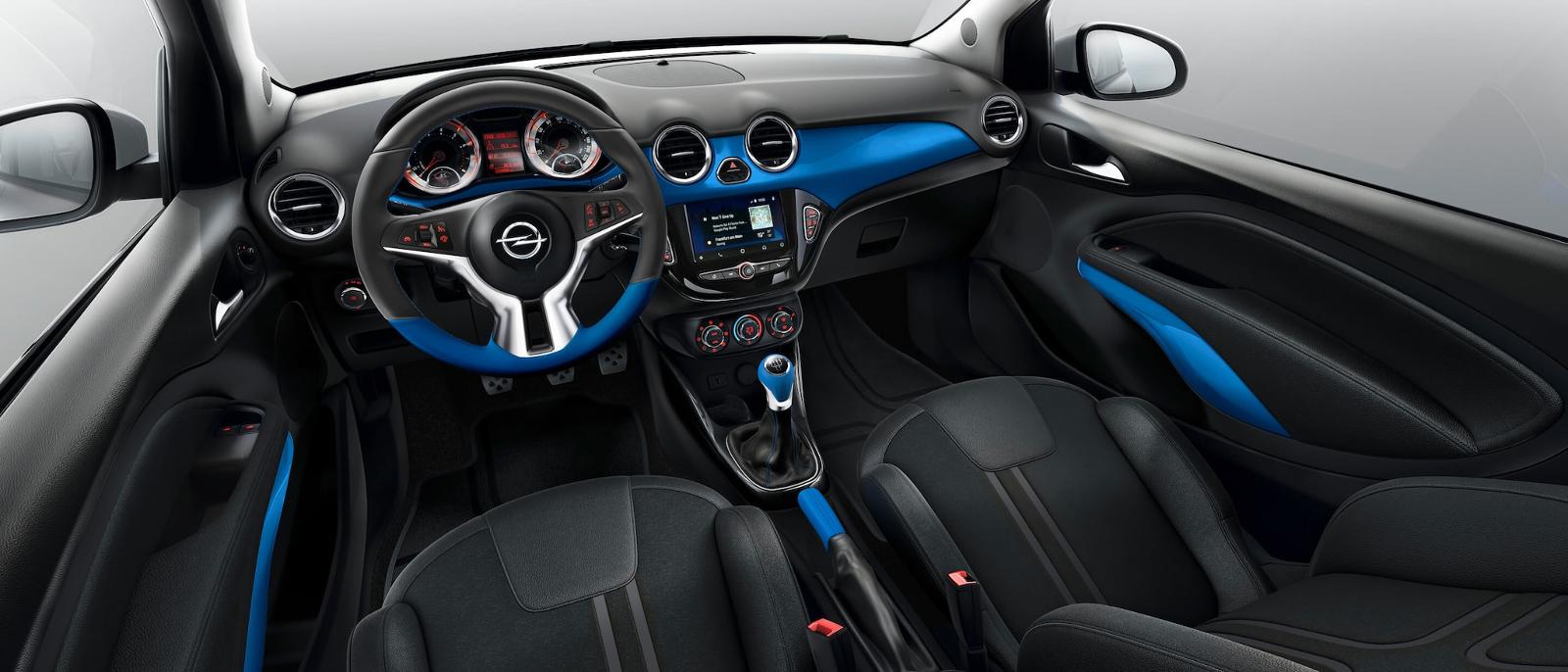 Interior Opel Adam Azul