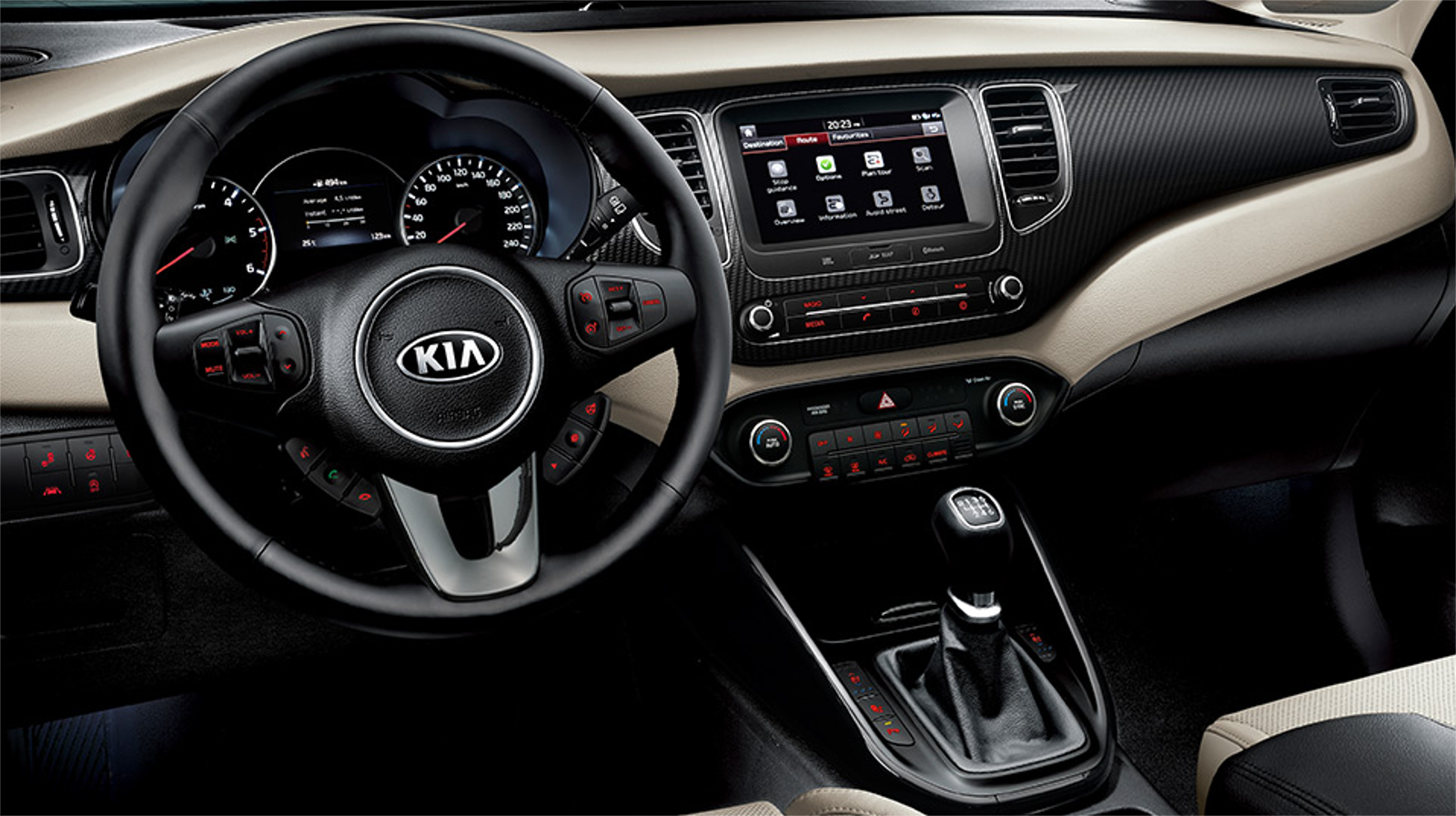 Interior kia carens