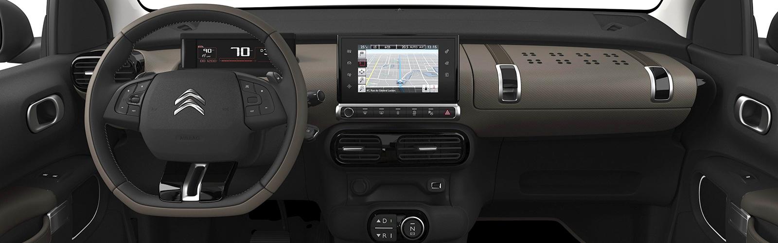 el interior del Citroën C4 Cactus es sobrio y sencillo pero muy espacioso