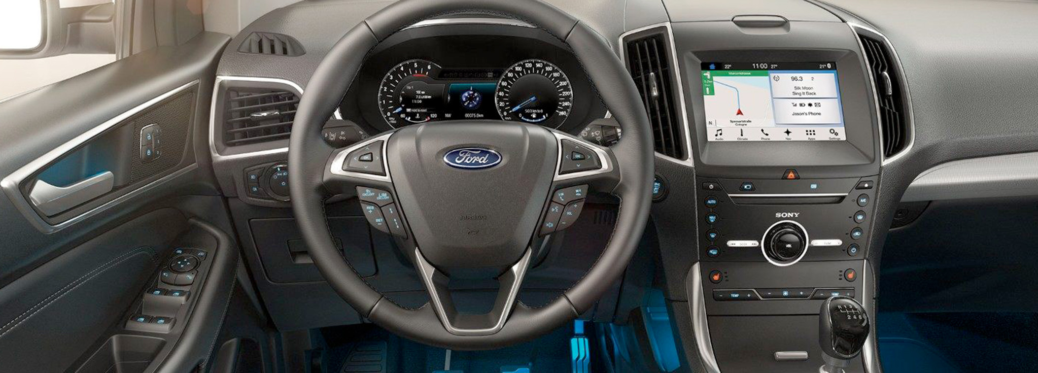 Consola interior ford edge