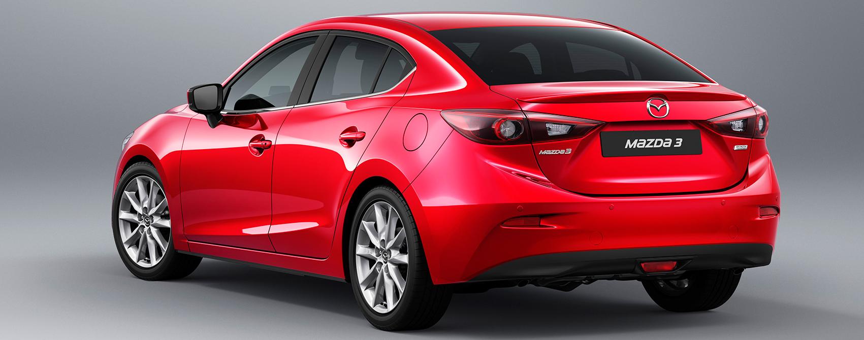 Lateral Mazda 3 sporsedan