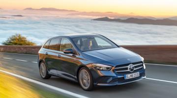 Mercedes clase b plateado