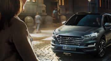 Hyundai tucson plateado