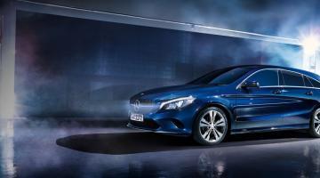 Mercedes CLA azul