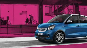 Smart forfour azul