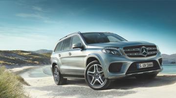 Mercedes GLS plateado