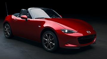 Mazda mx5 rojo
