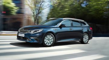 Kia optima azul