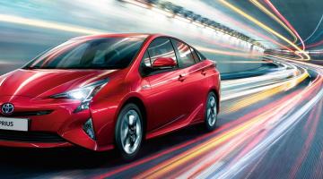 Toyota Prius lateral rojo