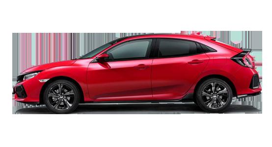 Honda Civic rojo-rally
