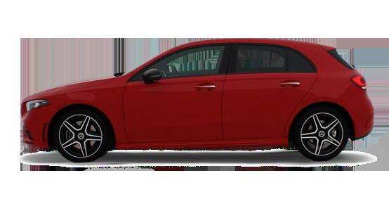 Mercedes Benz Clase A Compacto rojo