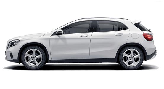 Mercedes Benz GLA Todoterreno blanco-polar