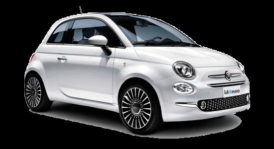 Fiat 500 blanco-gelato