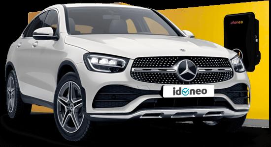 Mercedes Benz GLC Coupé blanco-electrico