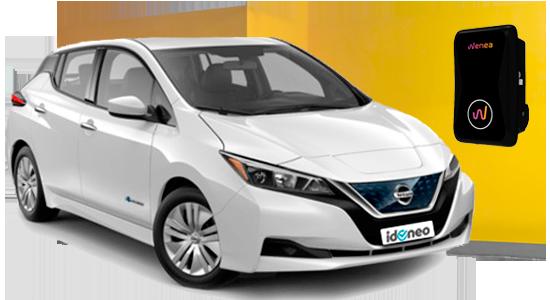 Nissan Leaf blanco-electrico